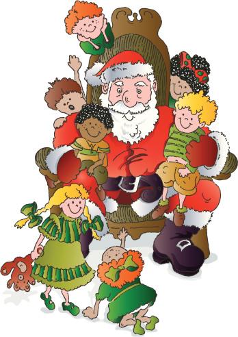 Santa Claus Child Christmas Shopping Mall Clip Art, Vector Images