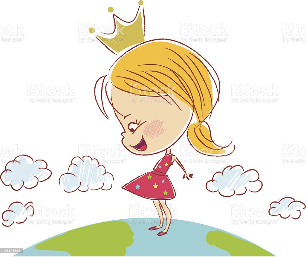 Children with crown royalty-free stock vector art