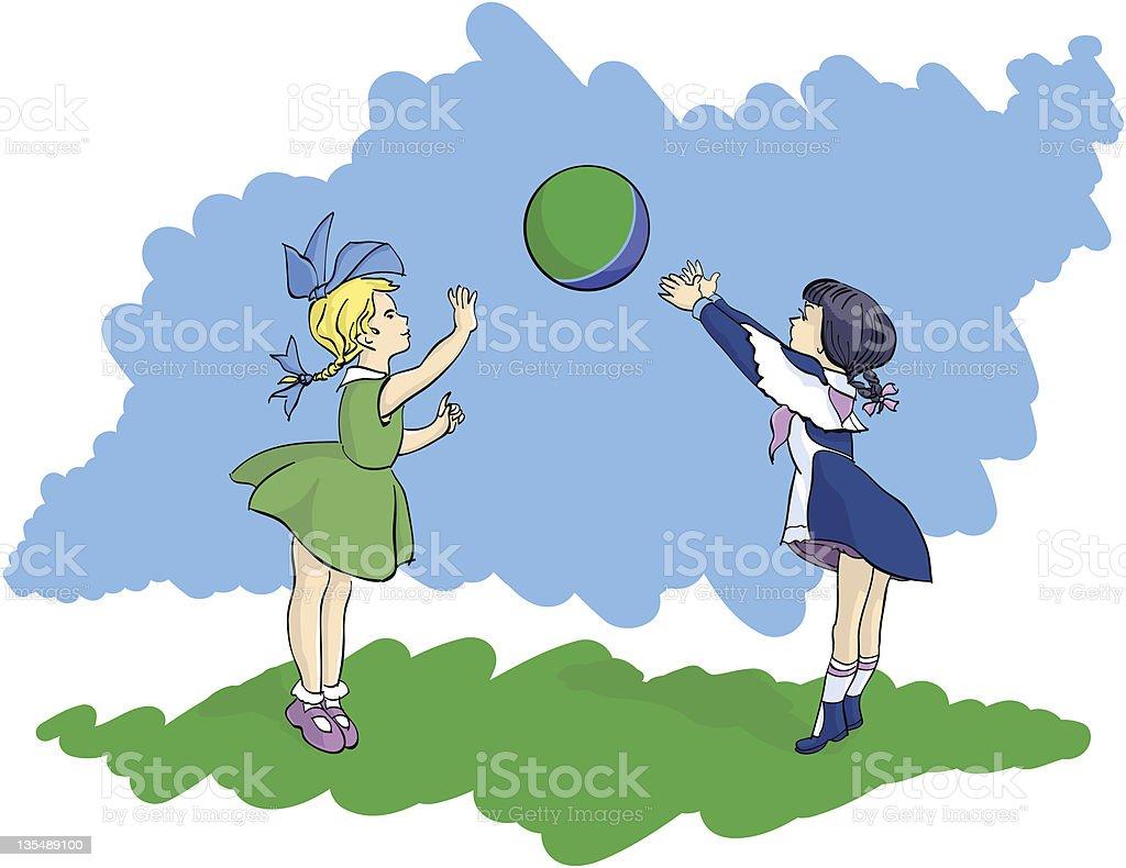 Children's ball game royalty-free stock vector art