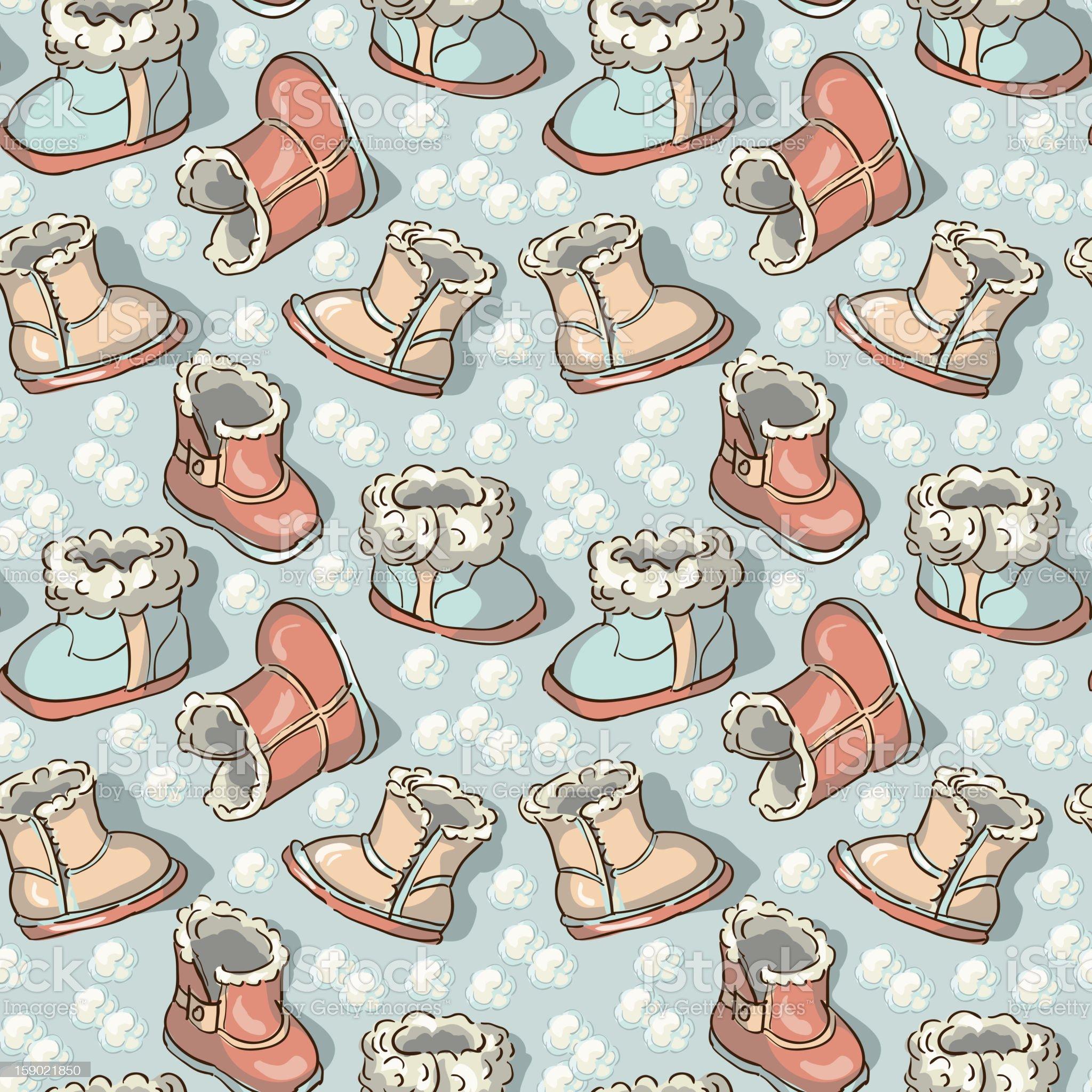 Children's boots royalty-free stock vector art