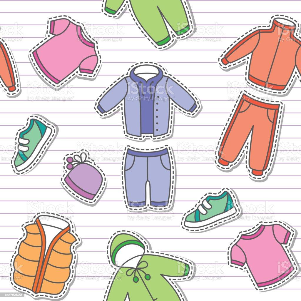 children's clothes, vector eps 10 vector art illustration