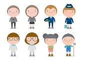 Children's dream jobs, professions in dream for kids, Happy children