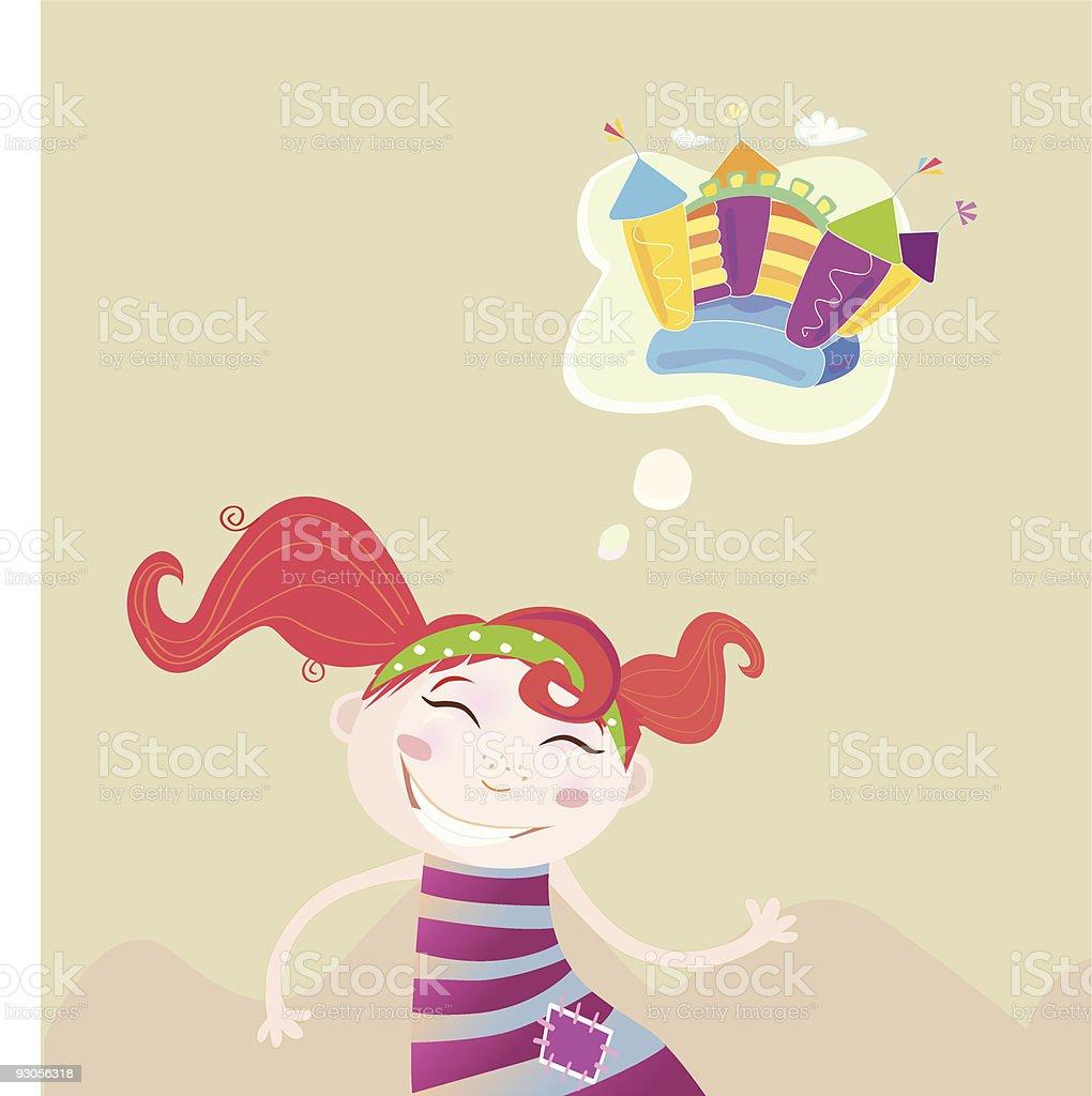 Childrens dream royalty-free stock vector art