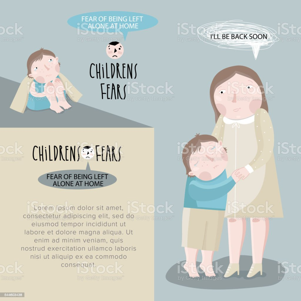 Children's fears. Vector illustration. vector art illustration