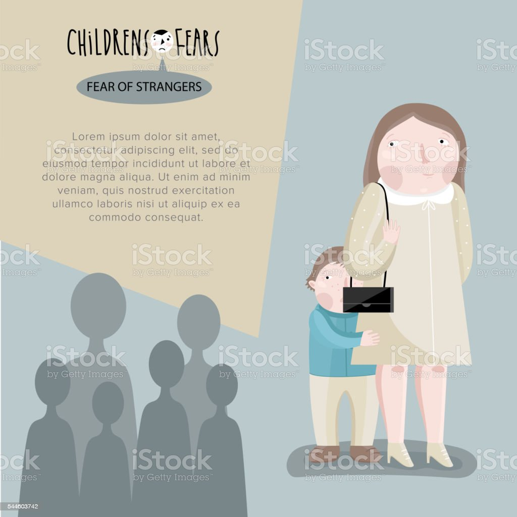 Childrens fears. Vector illustration. vector art illustration