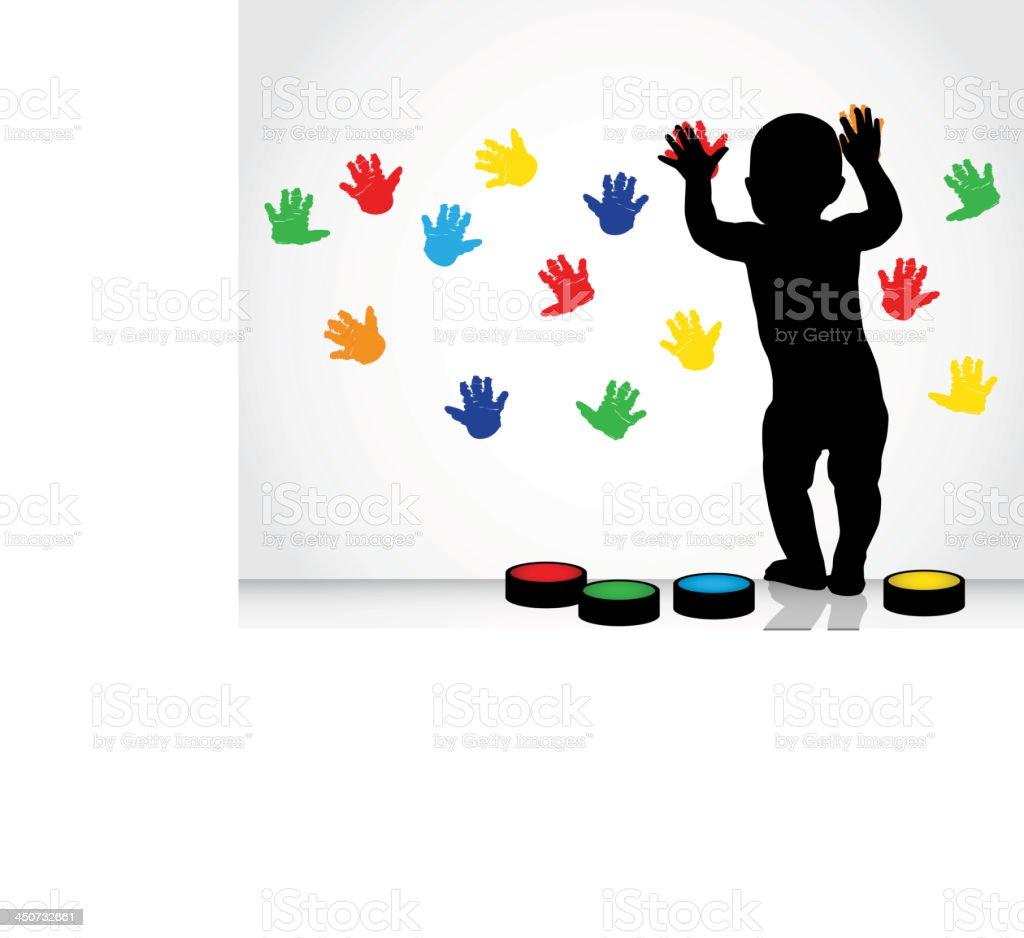 children's handprint royalty-free stock vector art