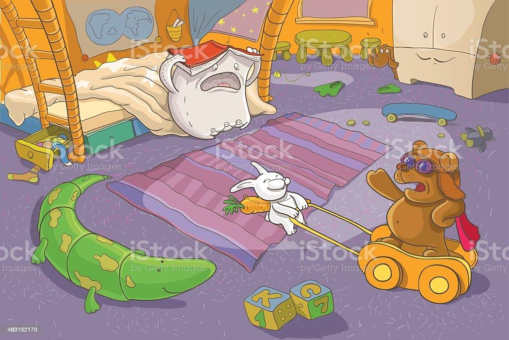 Childrens Illustration Fantasy vector art illustration