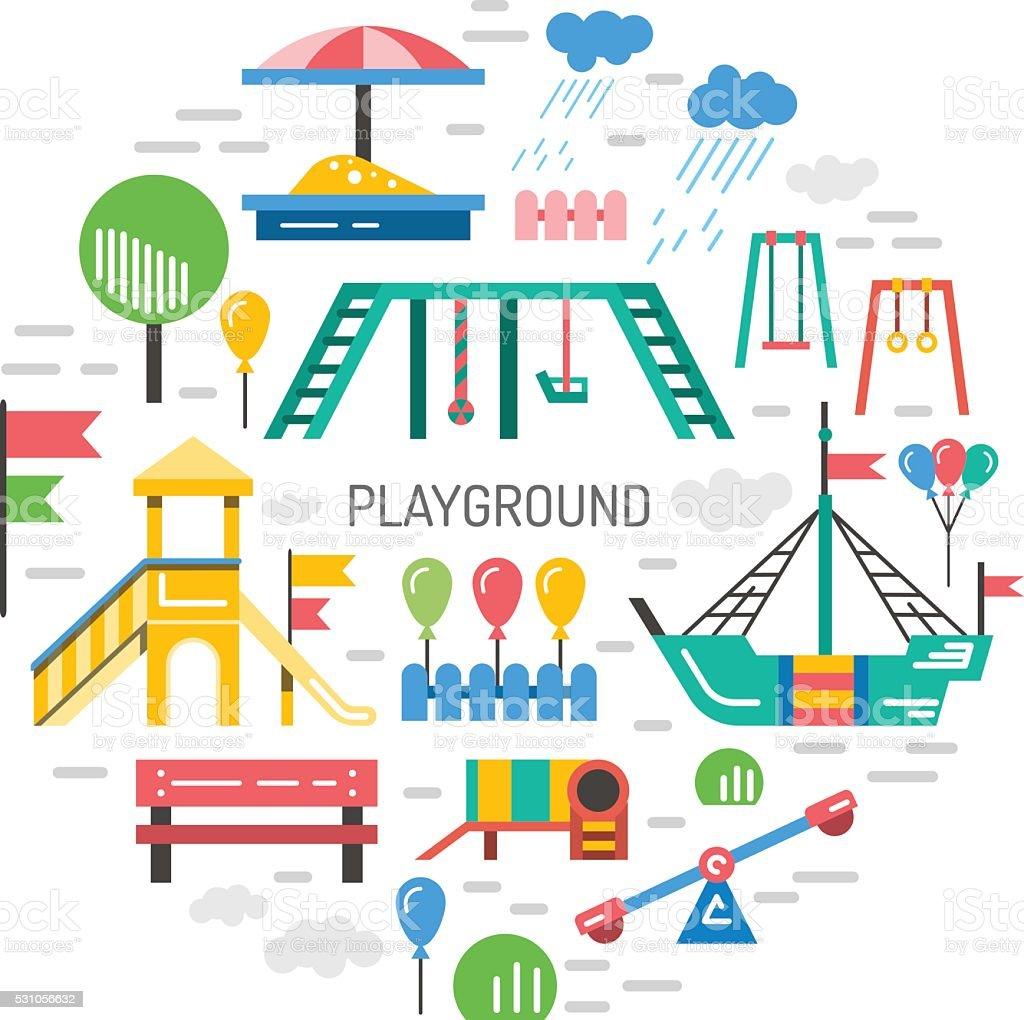 patio de juegos para nios jardines de infancia jugando libre de derechos libre de derechos