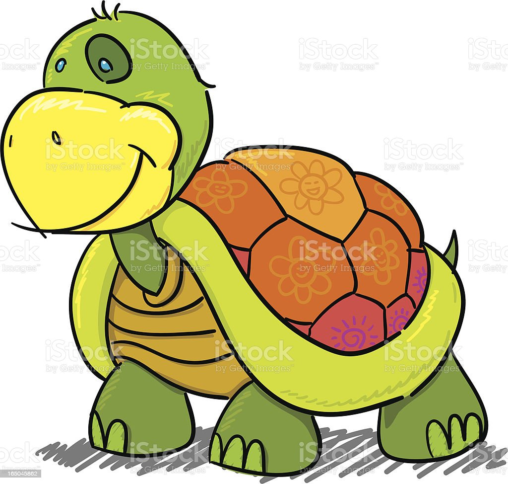 Childrens Series IV -Turtle- royalty-free stock vector art