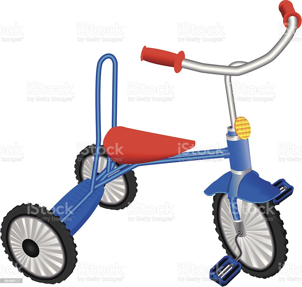 children's tricycle royalty-free stock vector art