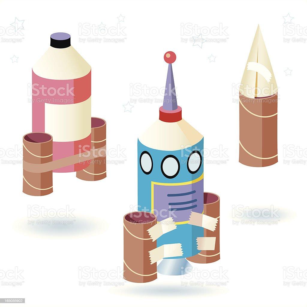 Child's Rocket Project vector art illustration