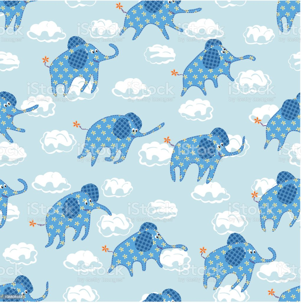 Child's seamless pattern royalty-free stock vector art