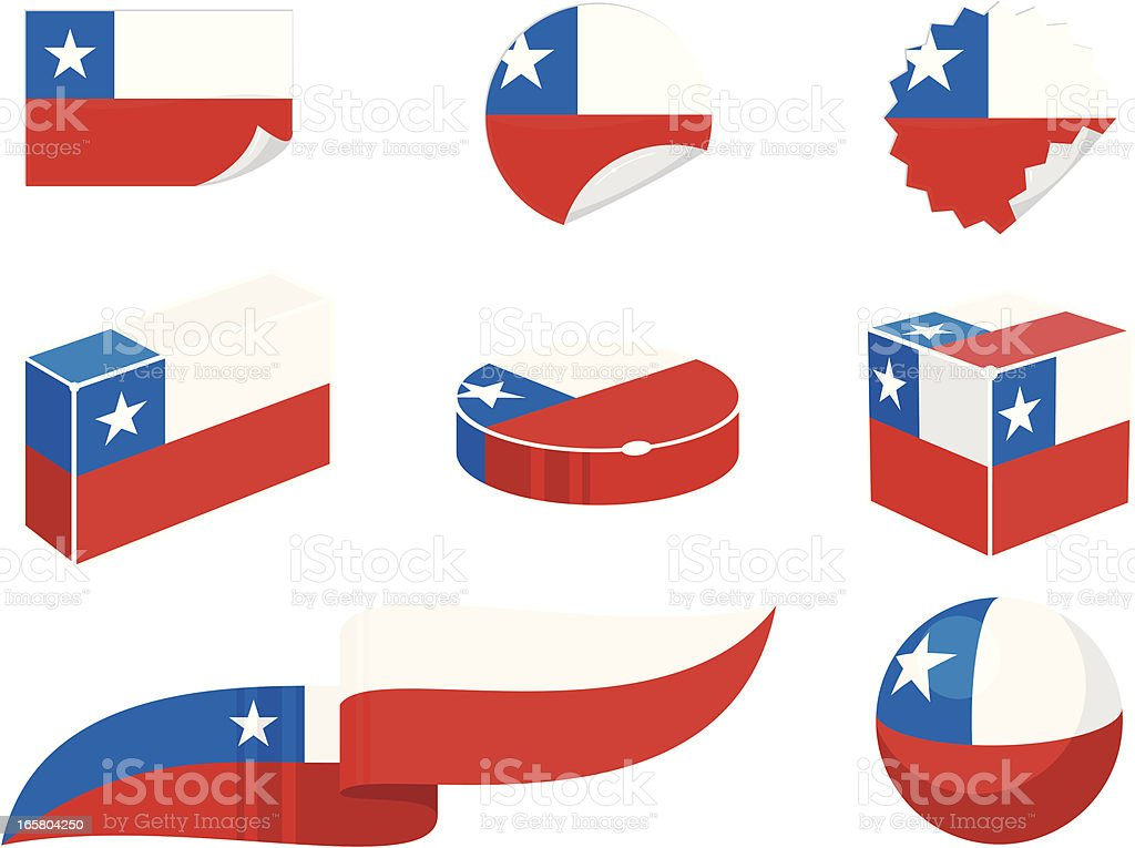 Chile Design Elements royalty-free stock vector art