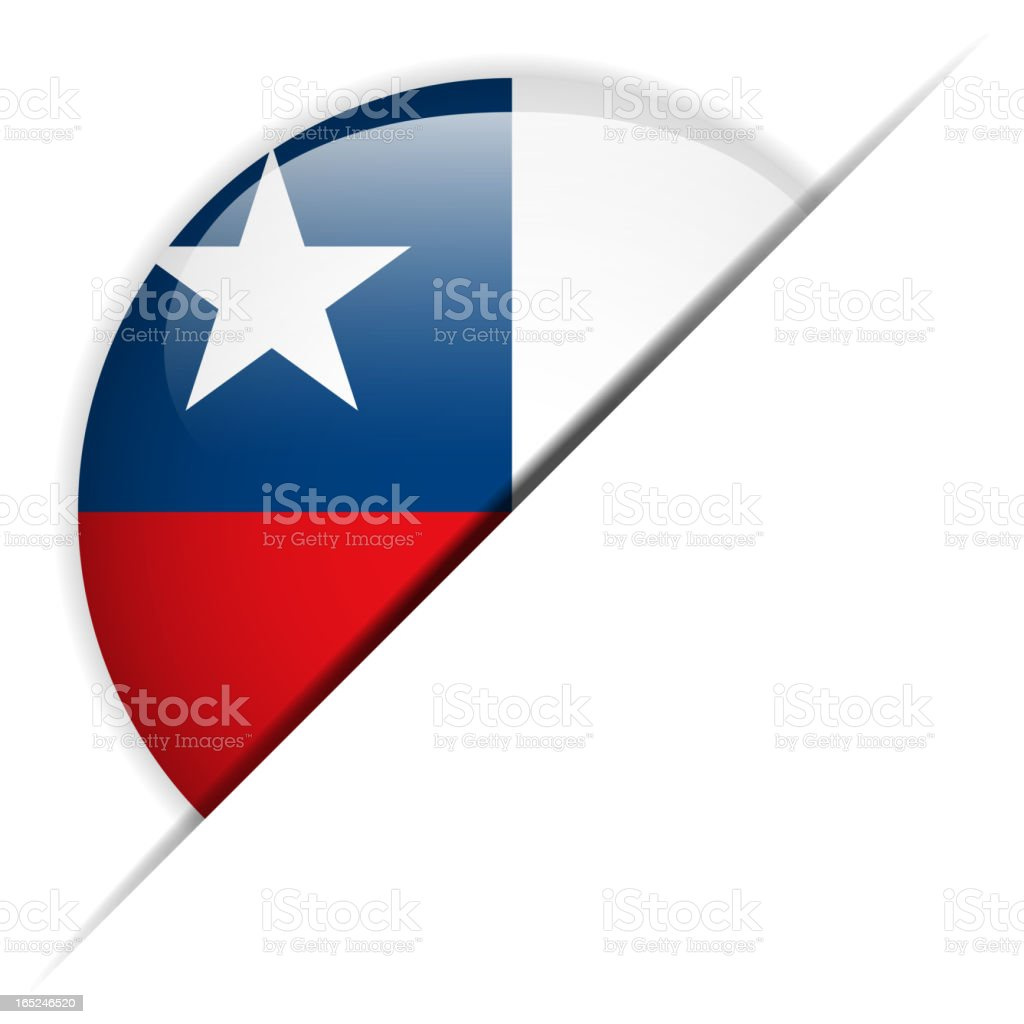 Chile Flag Glossy Button Hidden royalty-free stock vector art