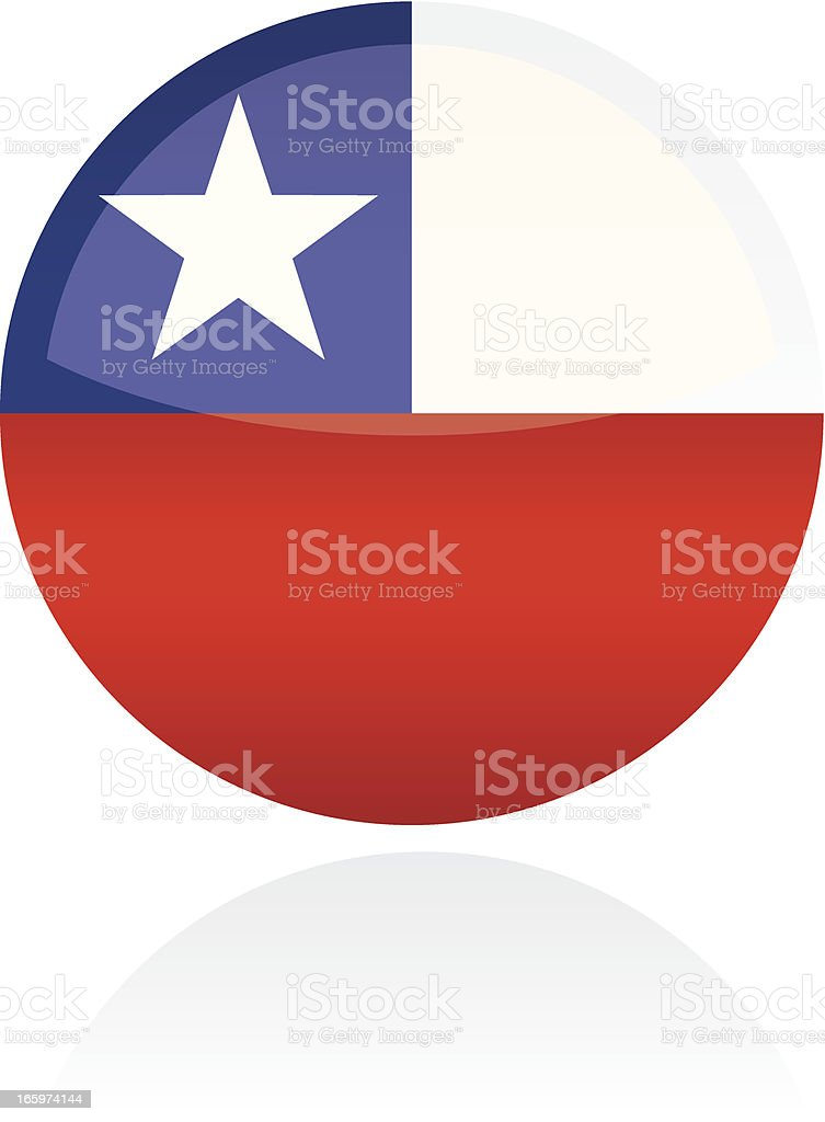 Chile, South American Flag Button royalty-free stock vector art