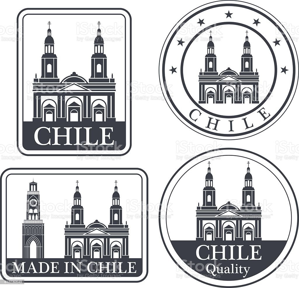 Chile vector art illustration