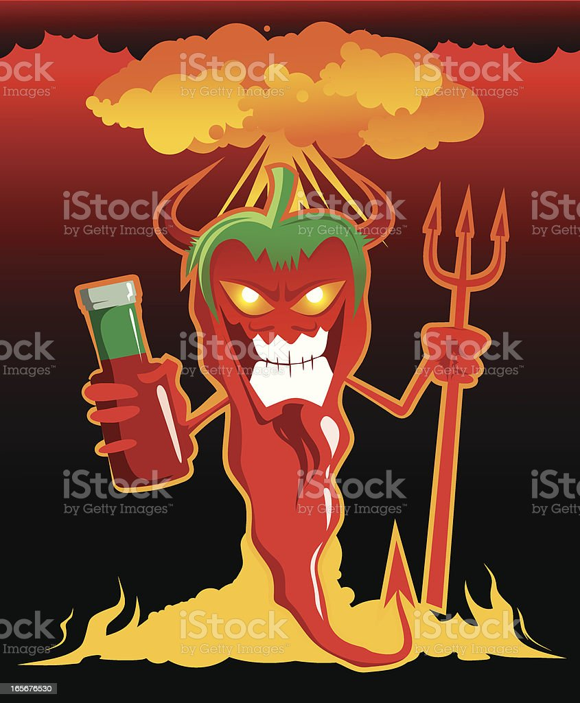 Chili Devil royalty-free stock vector art