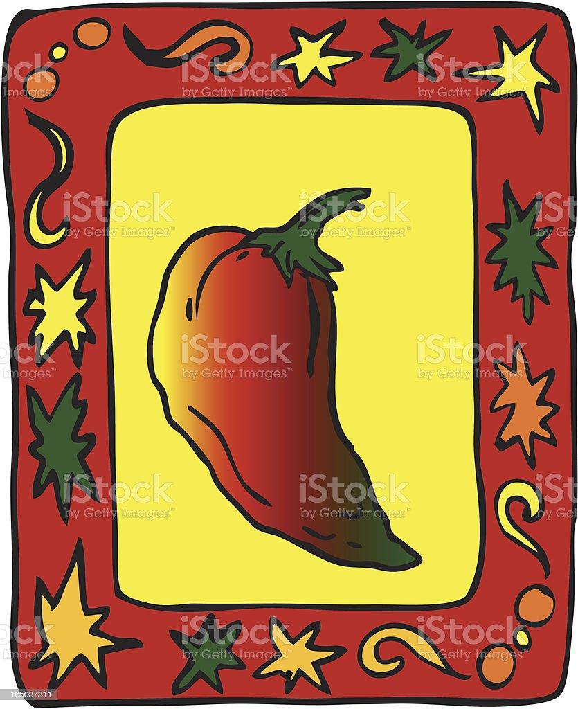Chili Hot royalty-free stock vector art