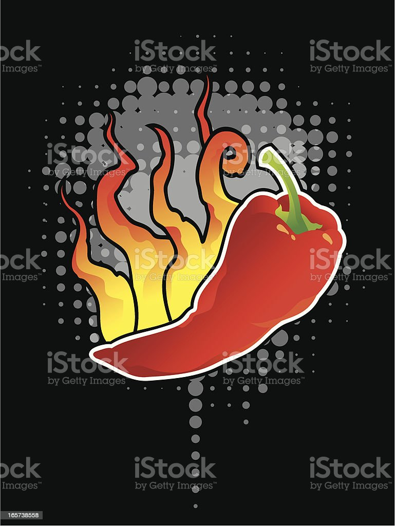 chili pepper background royalty-free stock vector art