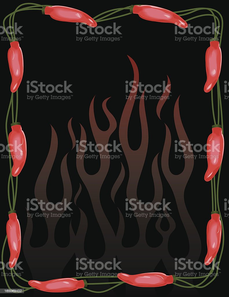 Chili Pepper Lights royalty-free stock vector art