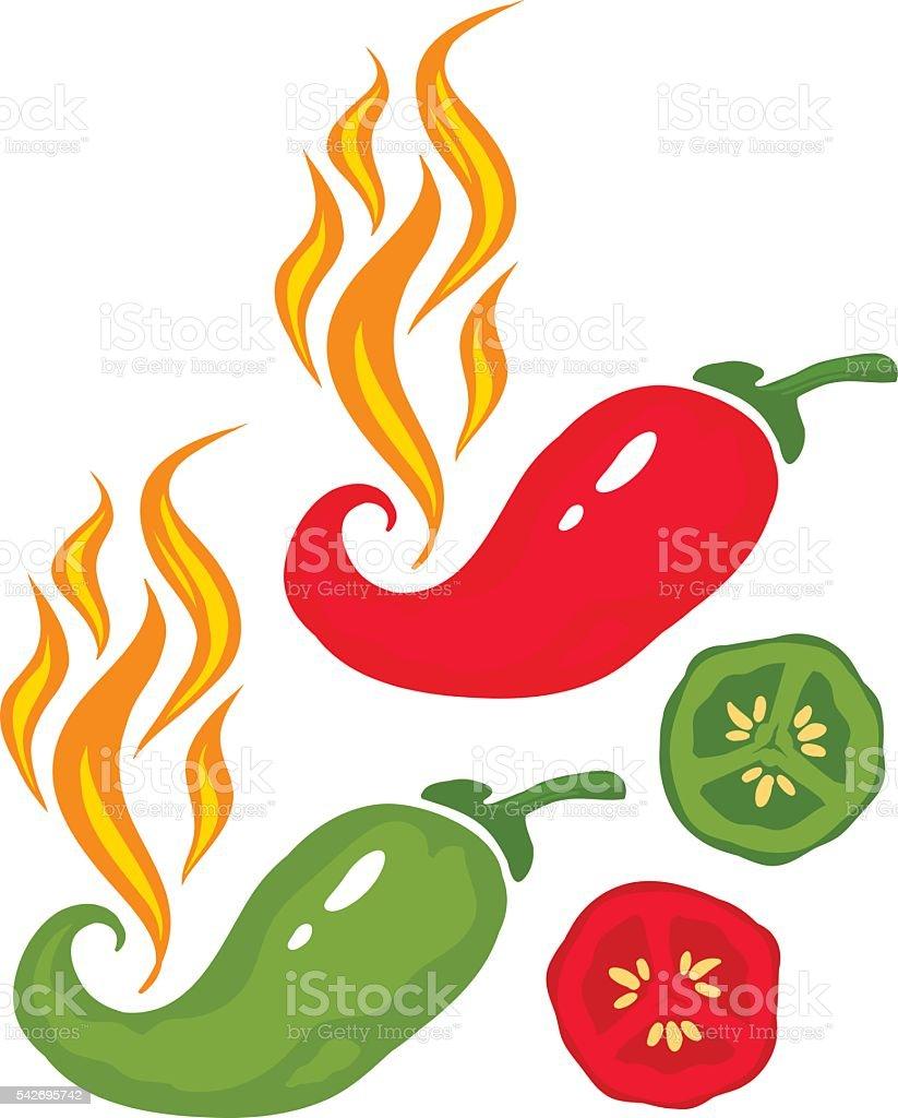 Chili pepper vector art illustration