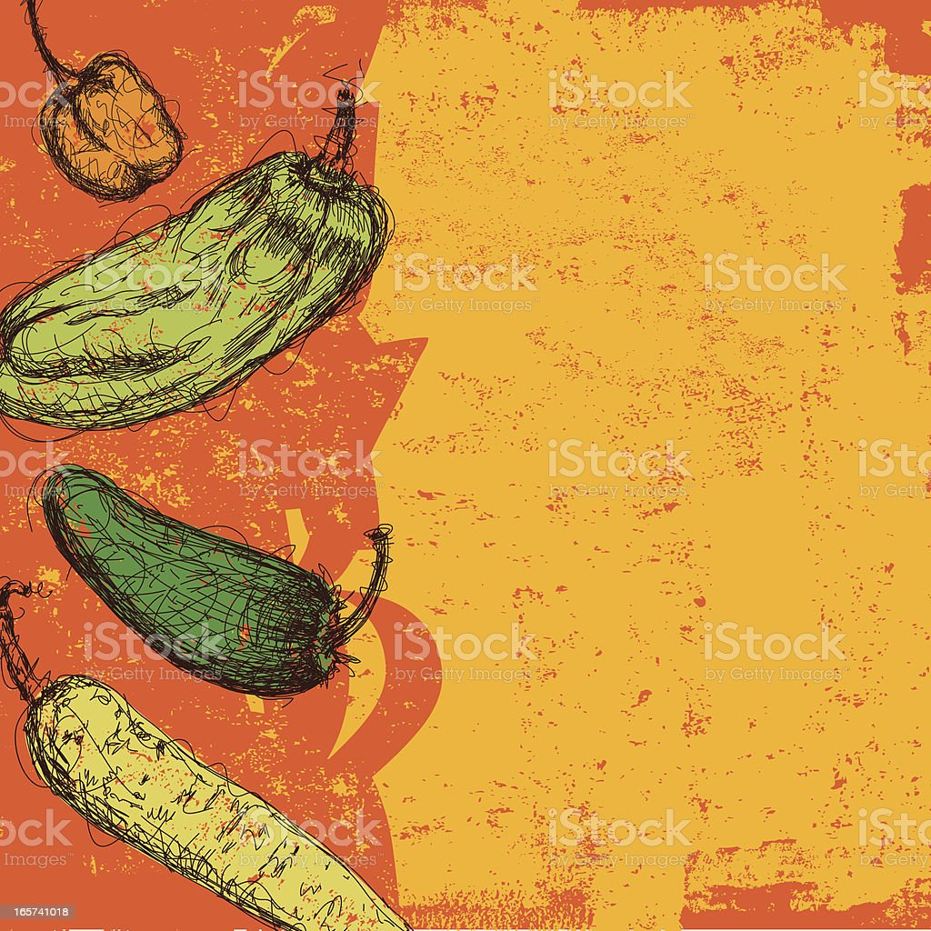 chili peppers abstract vector art illustration