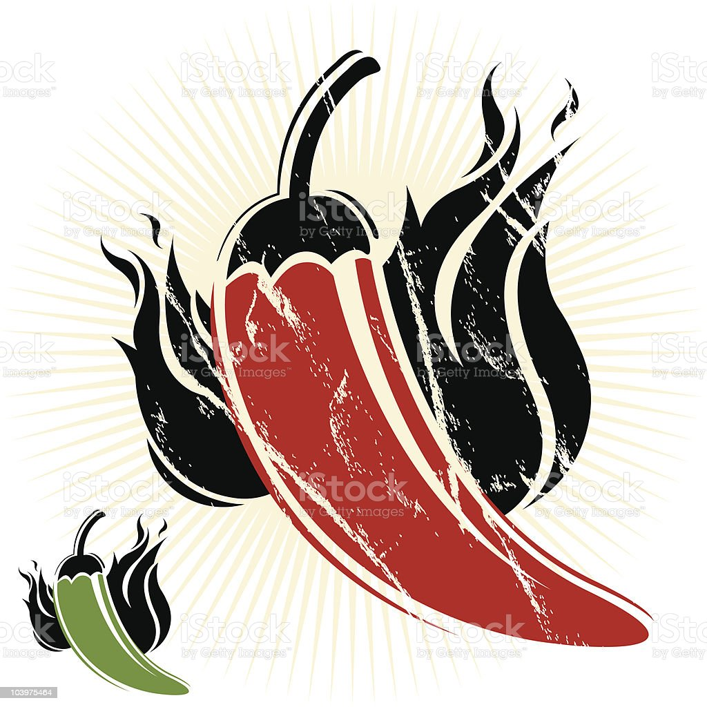 Chili Peppers royalty-free stock vector art