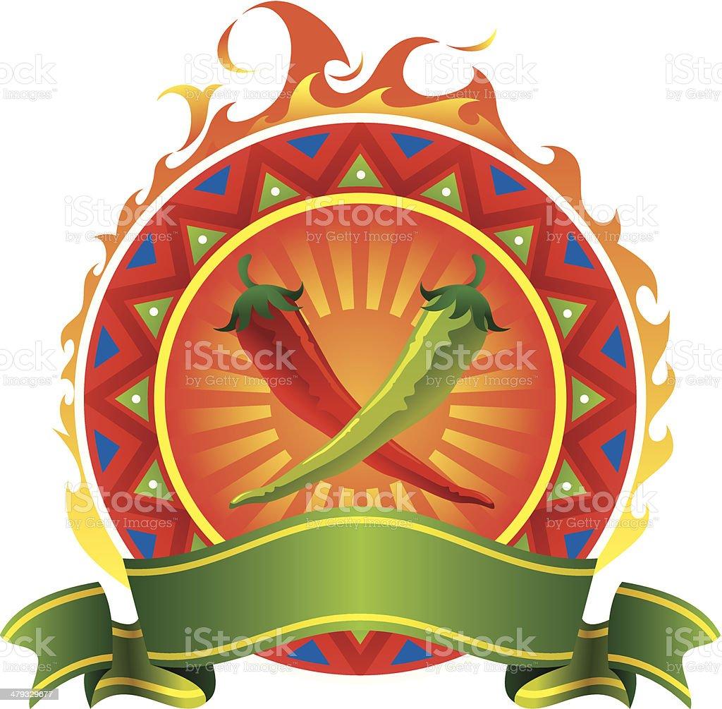 Chilli vector emblem royalty-free stock vector art