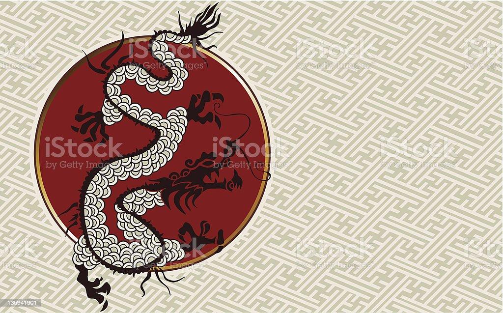 China 2012 Dragon Year illustration royalty-free stock vector art