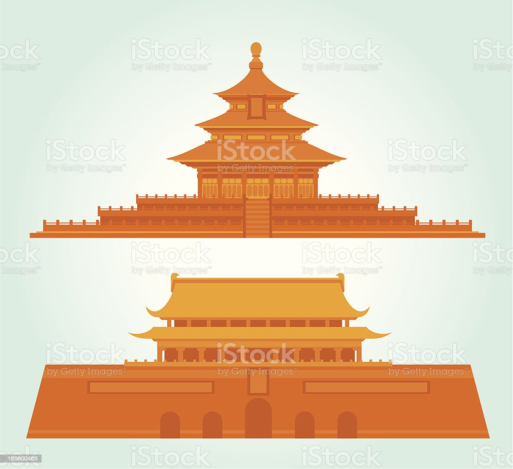 China Beijing Landmark Icon royalty-free stock vector art