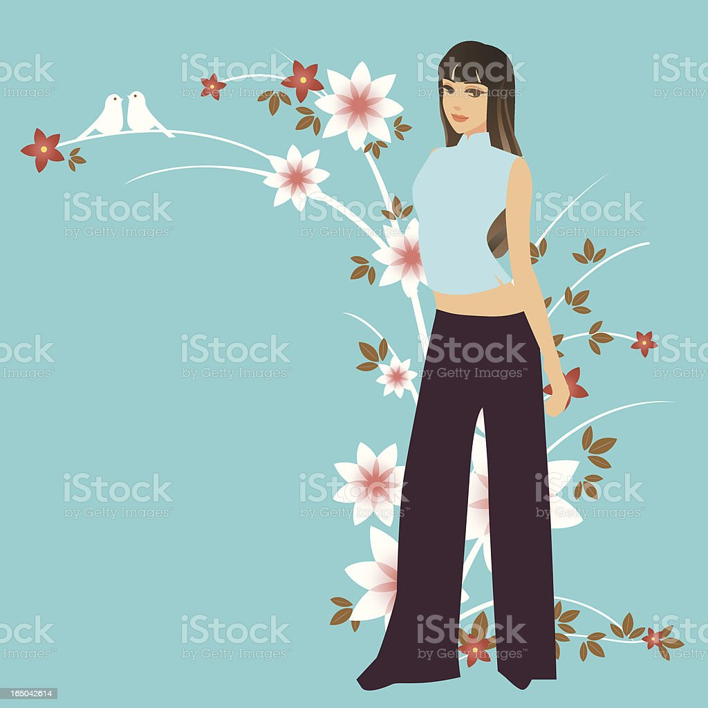 China Doll vector art illustration