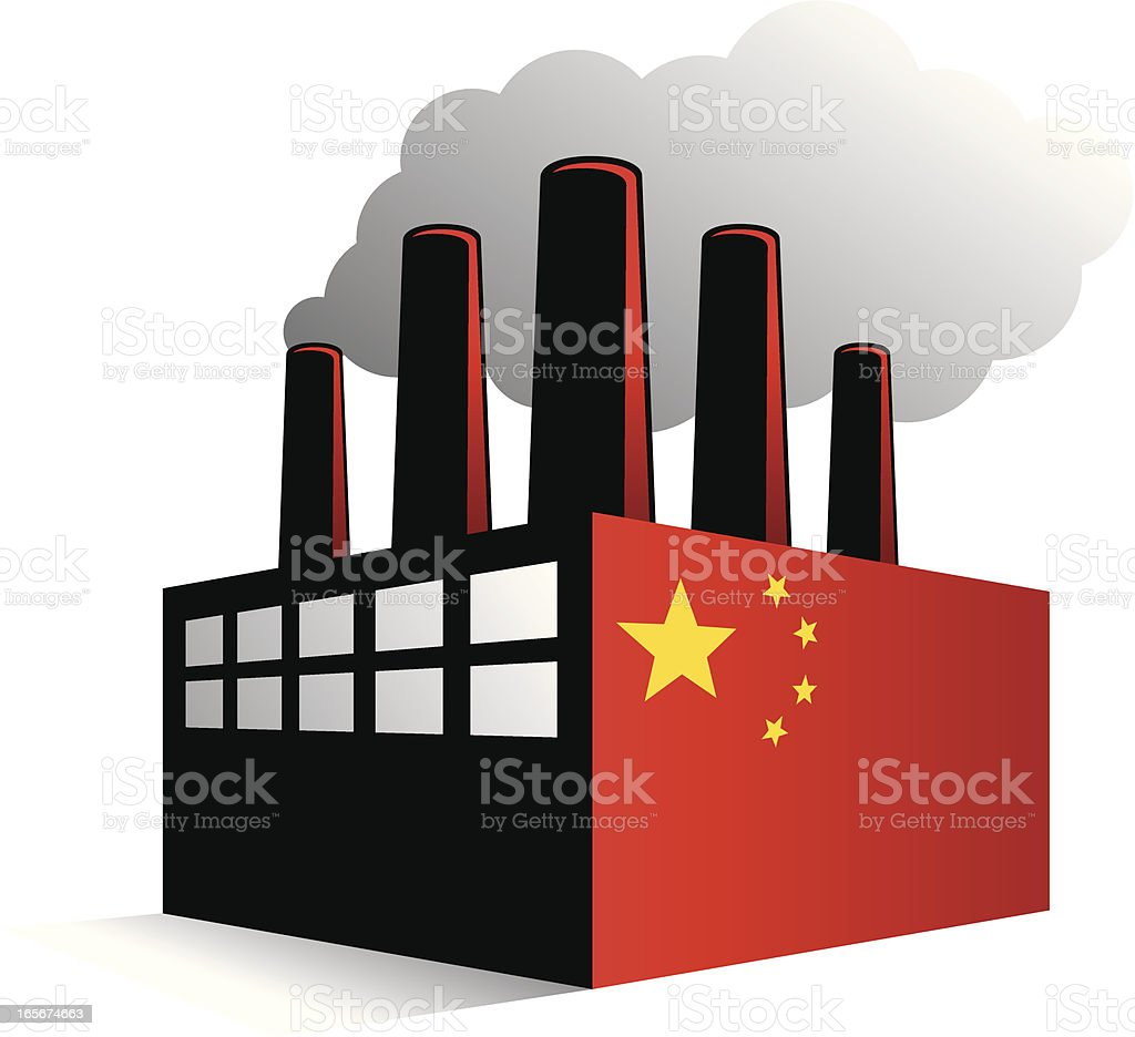 China Factory vector art illustration