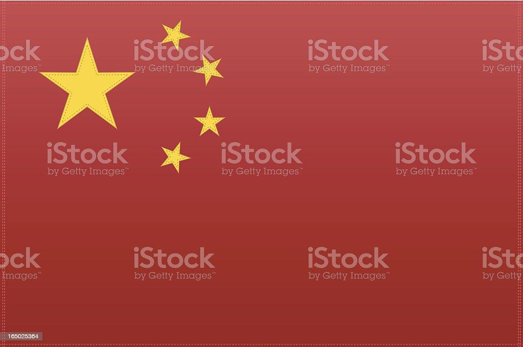 China Flag (Vector) royalty-free stock vector art