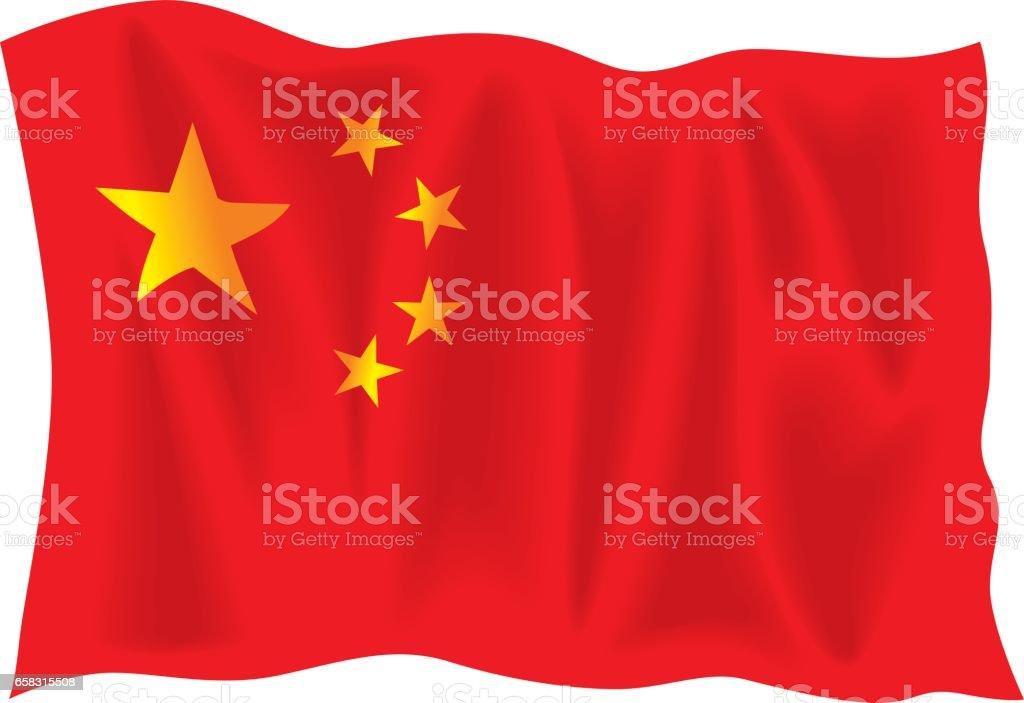 China Flag vector art illustration