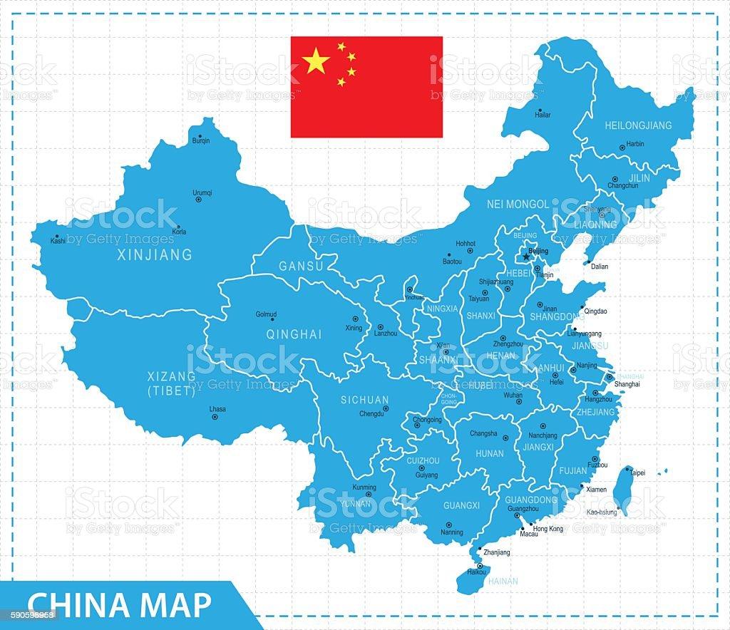 China Map - Illustration vector art illustration