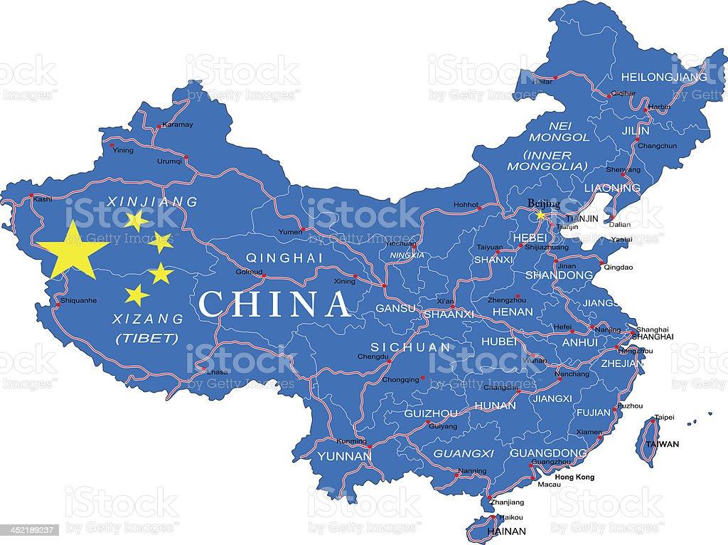 China map royalty-free stock vector art