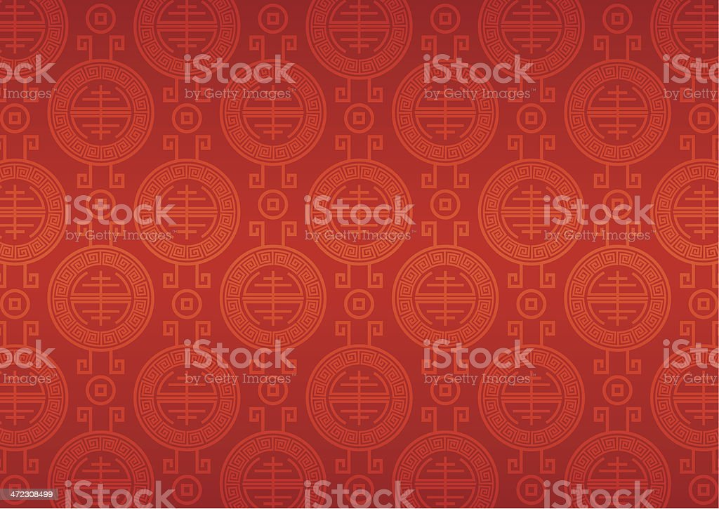 China motif pattern royalty-free stock vector art