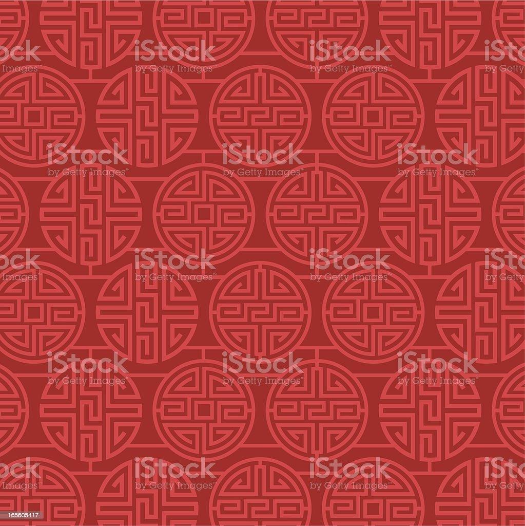 China Pattern Design vector art illustration