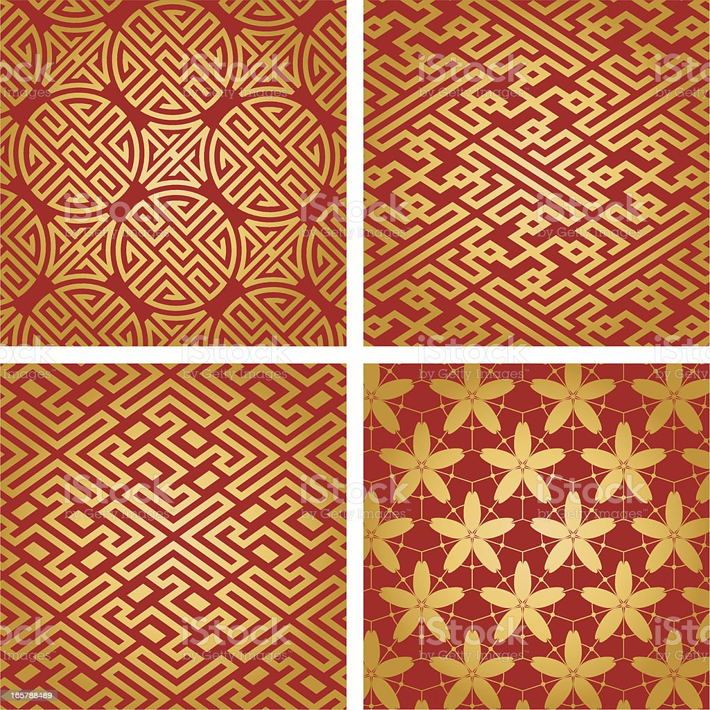 China Pattern Design royalty-free stock vector art