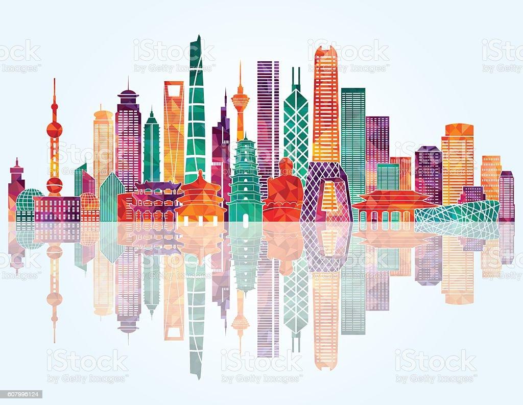 China Skyline Vector Illustration Gm607996124 104299555