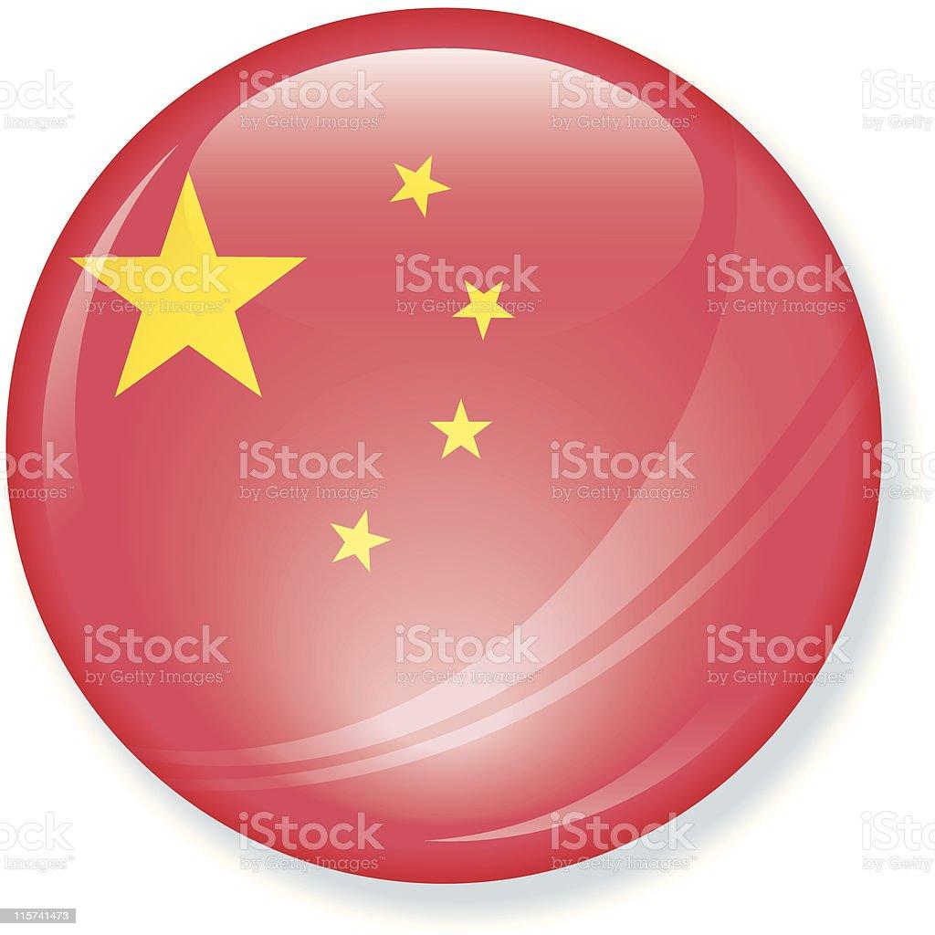 China Super Glossy Flag royalty-free stock vector art