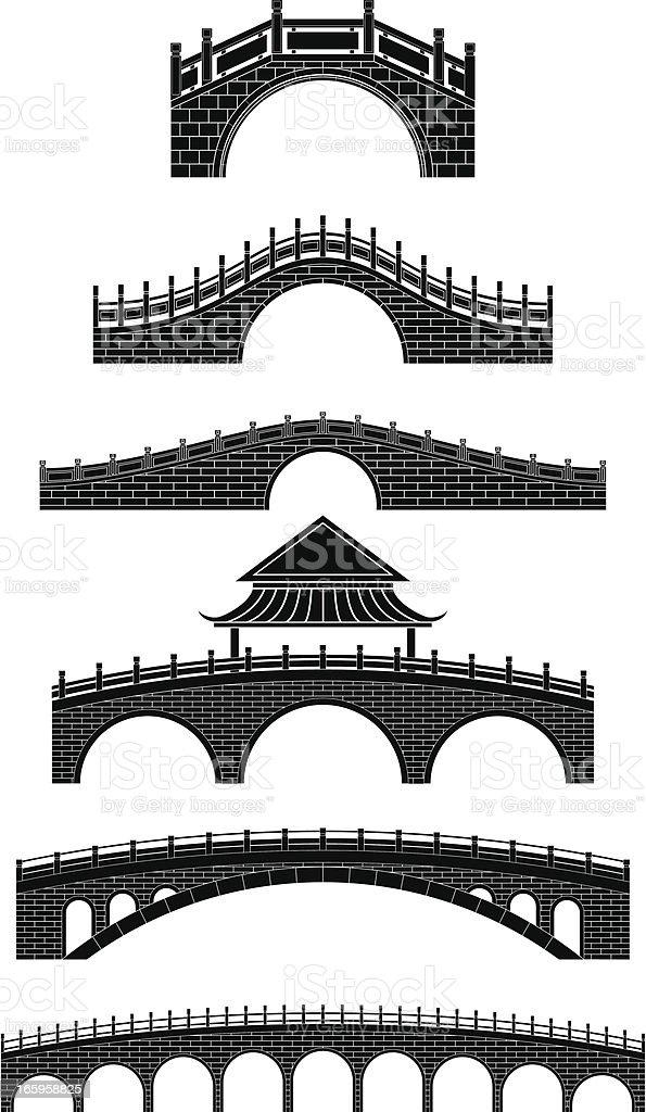 chinese bridges royalty-free stock vector art