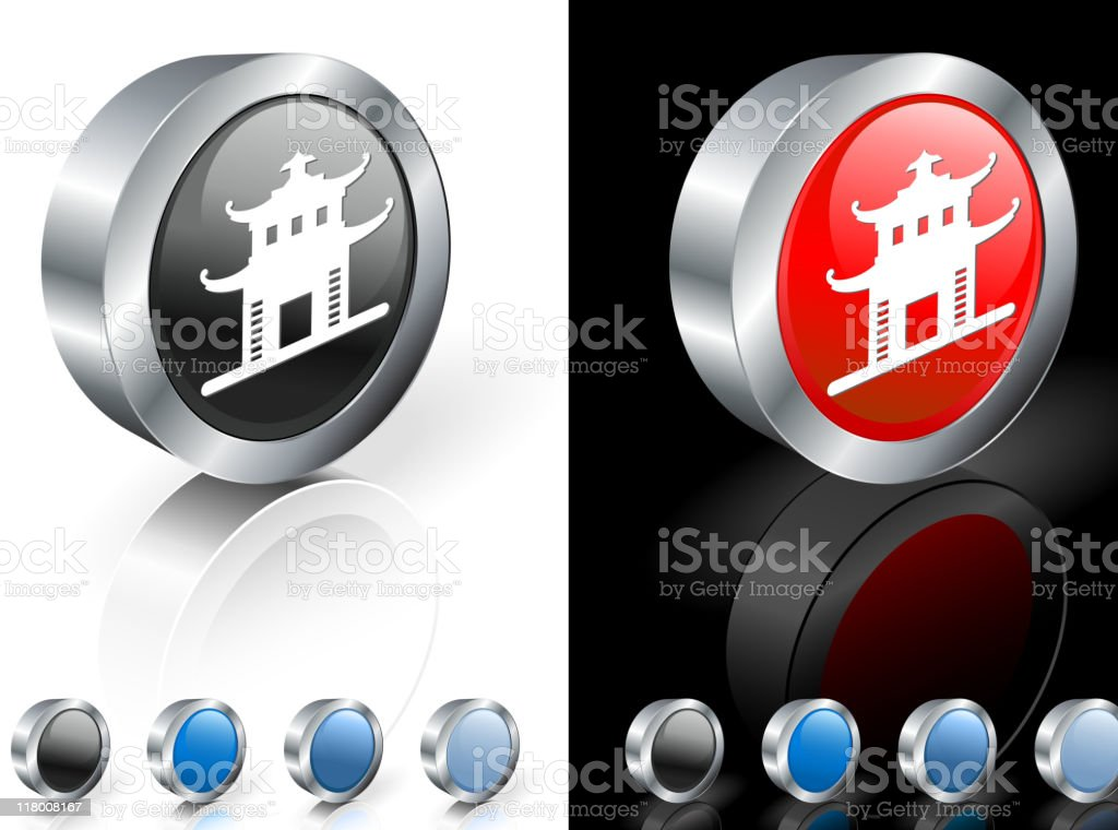 Chinese building 3D royalty free vector art royalty-free stock vector art