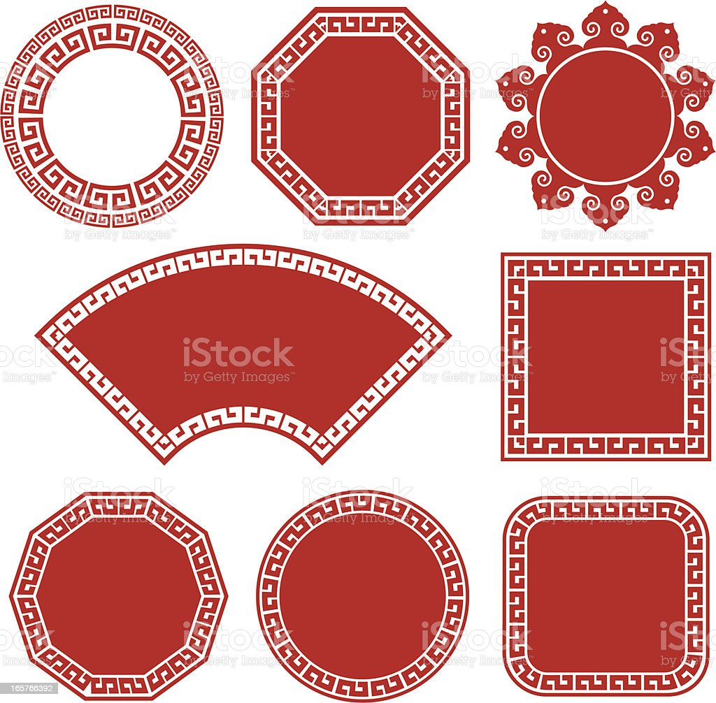 Chinese Culture Graphic Motif vector art illustration