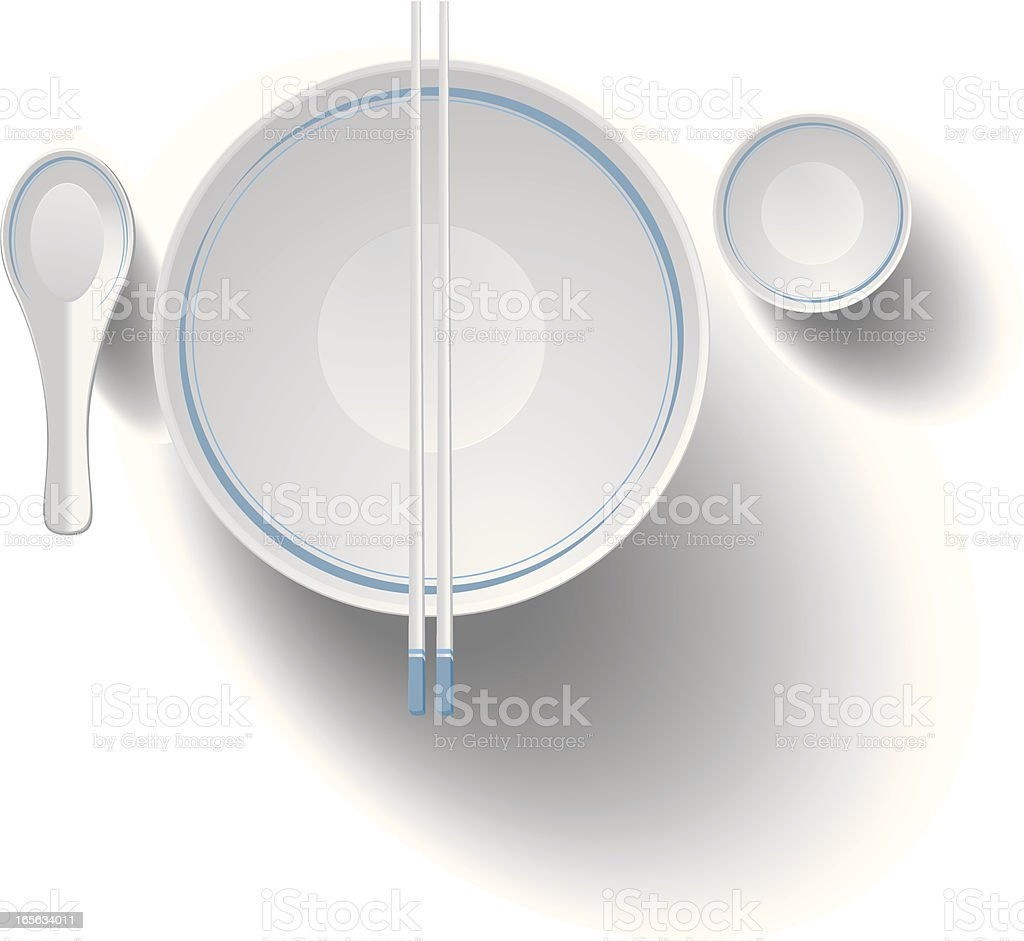 chinese dining set royalty-free stock vector art
