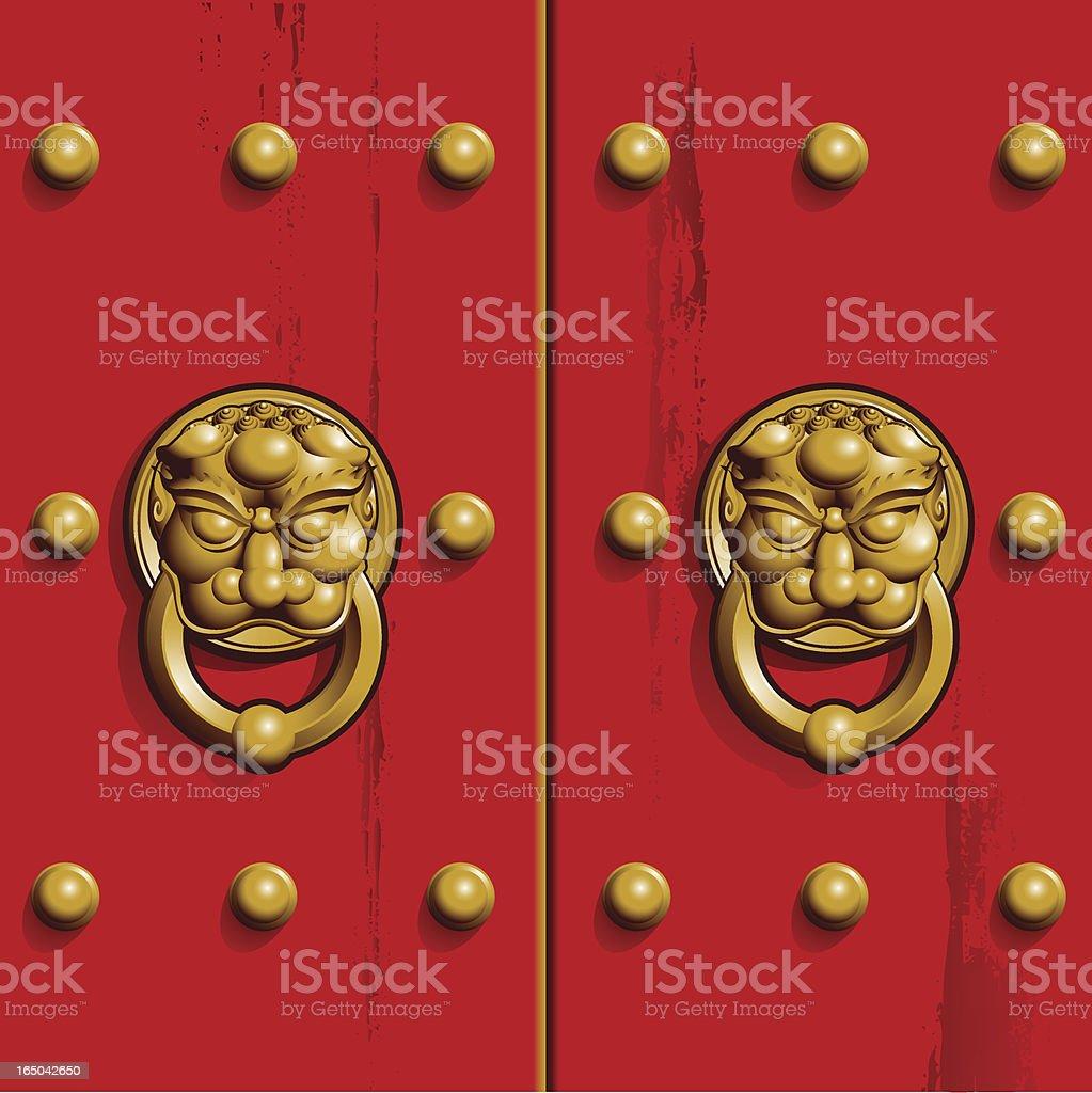 chinese door royalty-free stock vector art