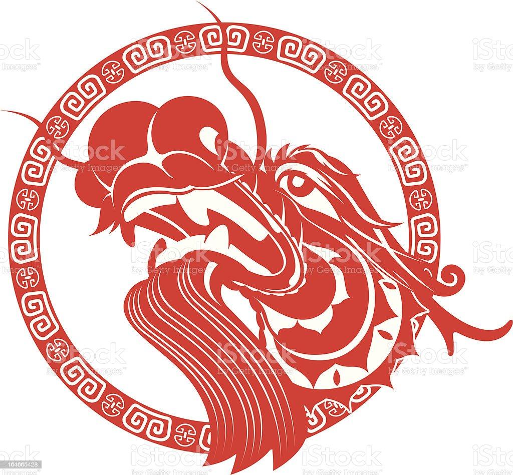 Chinese Dragon Head art royalty-free stock vector art