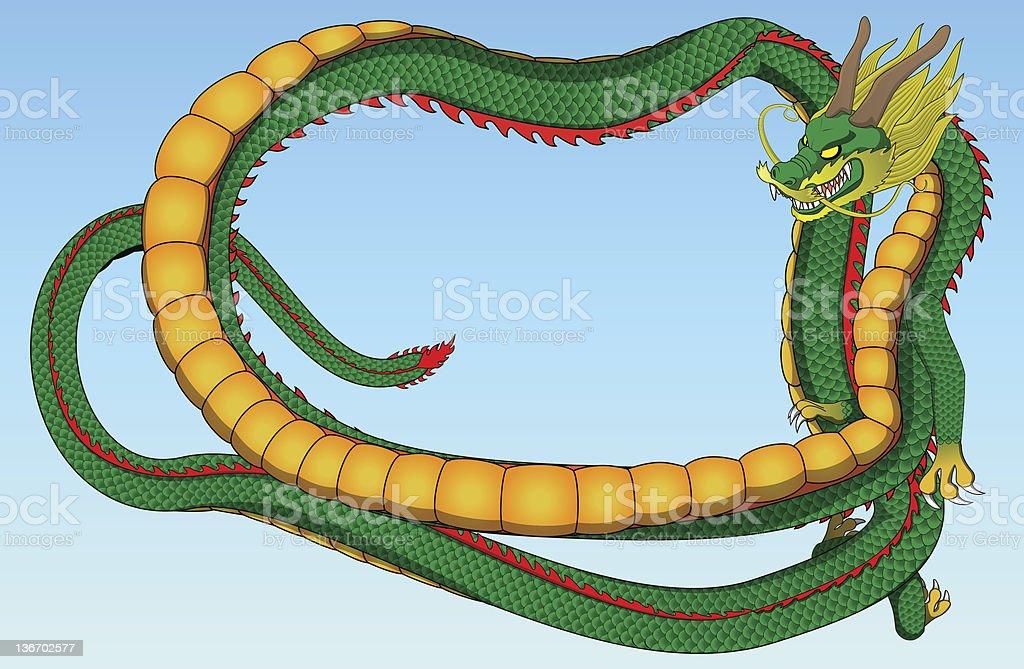 Dragón chino pintura illustracion libre de derechos libre de derechos