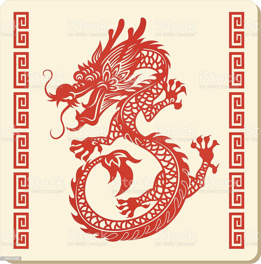 Chinese Dragon Pattern vector art illustration