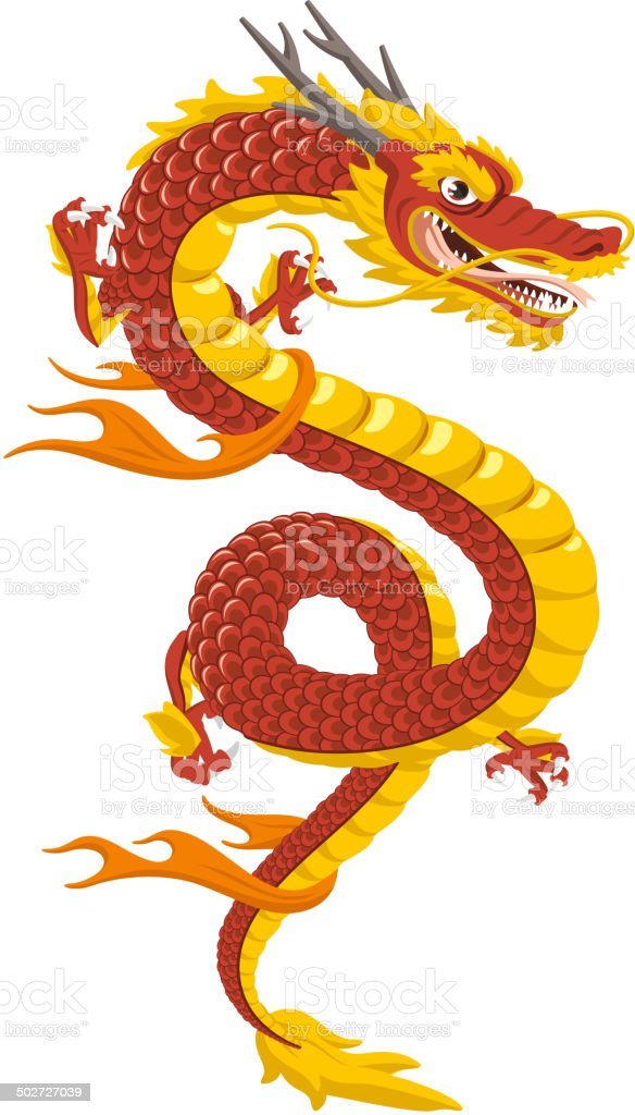 Chinese Dragon Traditional Culture vector art illustration